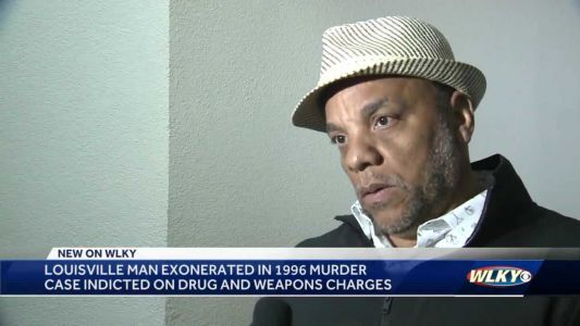 Louisville man exonerated in 1996 murder case indicted on drug, weapon charges