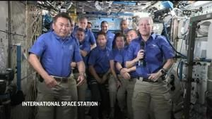 Commander says farewell to Space Station