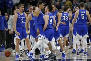 Childs, Barcello help BYU beat Utah St. at Beehive Classic