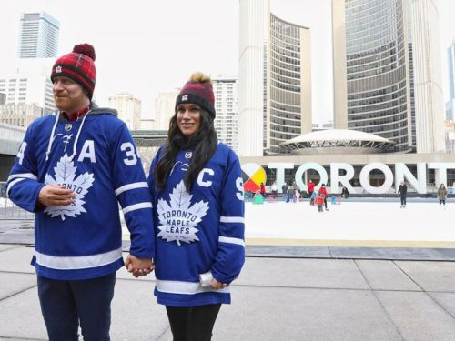 A bizarre account is documenting wax figures of Meghan Markle and Prince Harry traveling through Canada