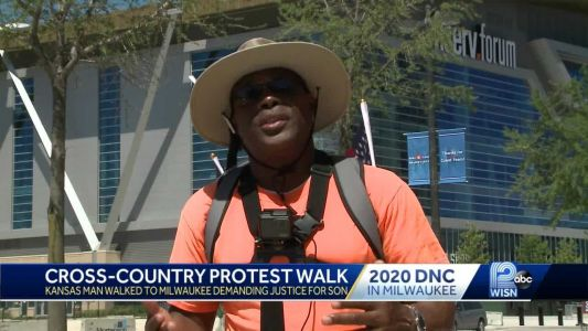 Kansas man walks to Milwaukee for DNC to demand justice for son