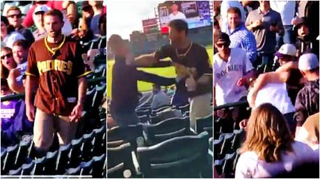 Padres fan brutally knocks rival MLB supporter out cold with one-punch hit - but police say victim will not press charges