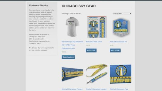 With Chicago Sky fanfare plentiful, championship gear remains limited