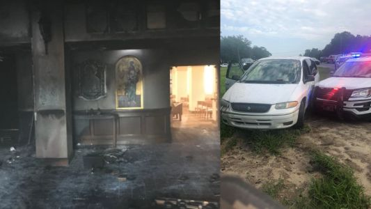 Man drives van into Florida church, sets it on fire with parishioners inside