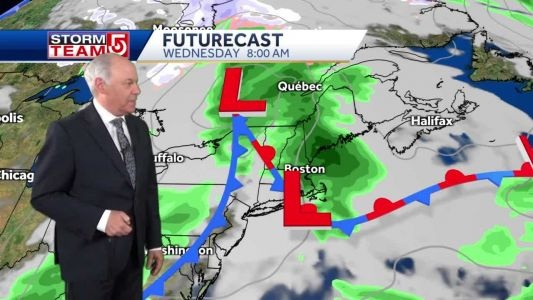 Video: Showers, storms arrive overnight into Wednesday