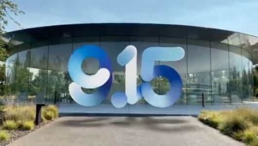 Apple's Greg Joswiak shows off that awesome '915' AR invitation