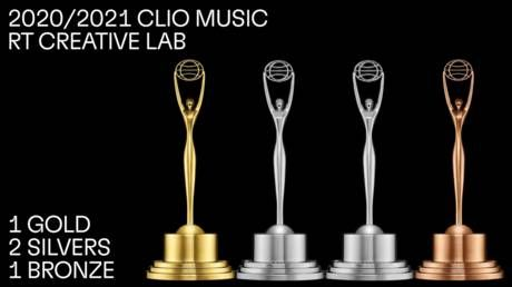 ClioMusic 2020/2021: RT Creative Lab wins GOLD, 2 SILVERS & BRONZE at global competition celebrating use of music in advertising