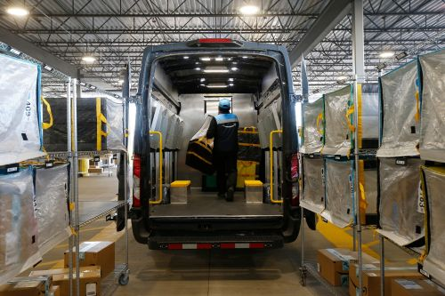 An Amazon delivery driver has tested positive for COVID-19, as workers throughout the company's supply chain worry about their safety