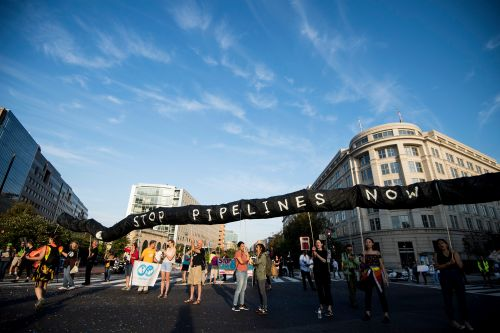 Climate change activists 'Shut Down DC' in protest