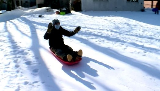 'This is where I get the fun right now': Man spends winter months building backyard luge