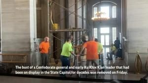 Confederate bust moved from Tennessee Capitol