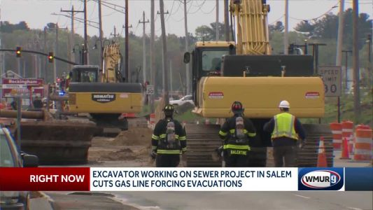 Excavator cuts gas line in Salem, forcing evacuations