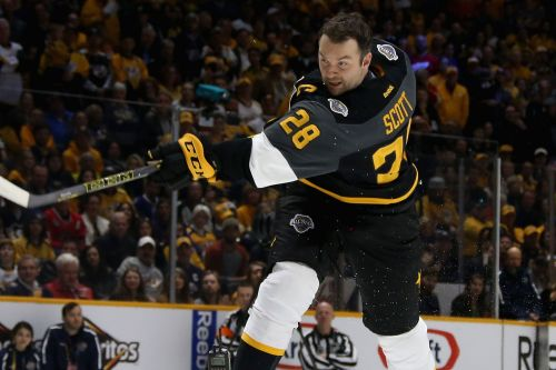 Ex-NHL enforcer John Scott escapes plunge into icy lake